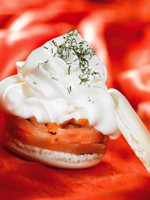 macaron au saumon et à l'aneth