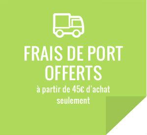 Frais de port offert à partir de 45€ d'achat seulement